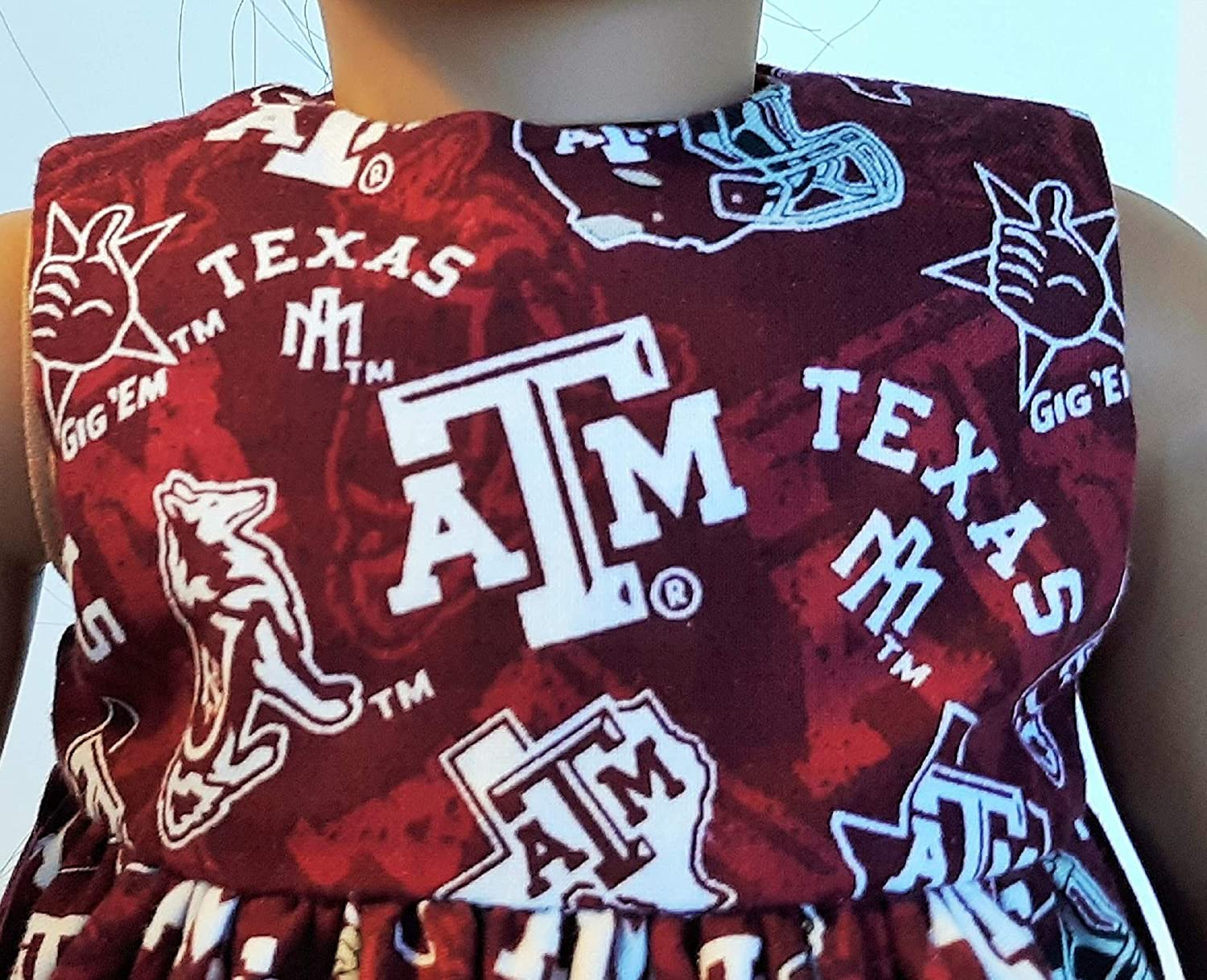 Texas A /& M Football Dress and Hair Bow That Fits American Girl 18 Dolls