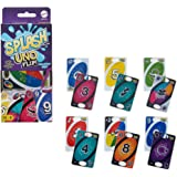 Mattel Games Uno Flip Splash Matching Card Game Featuring 112 Water Resistant 2-Sided Cards, Game Night, Gift Ages 7 Years &