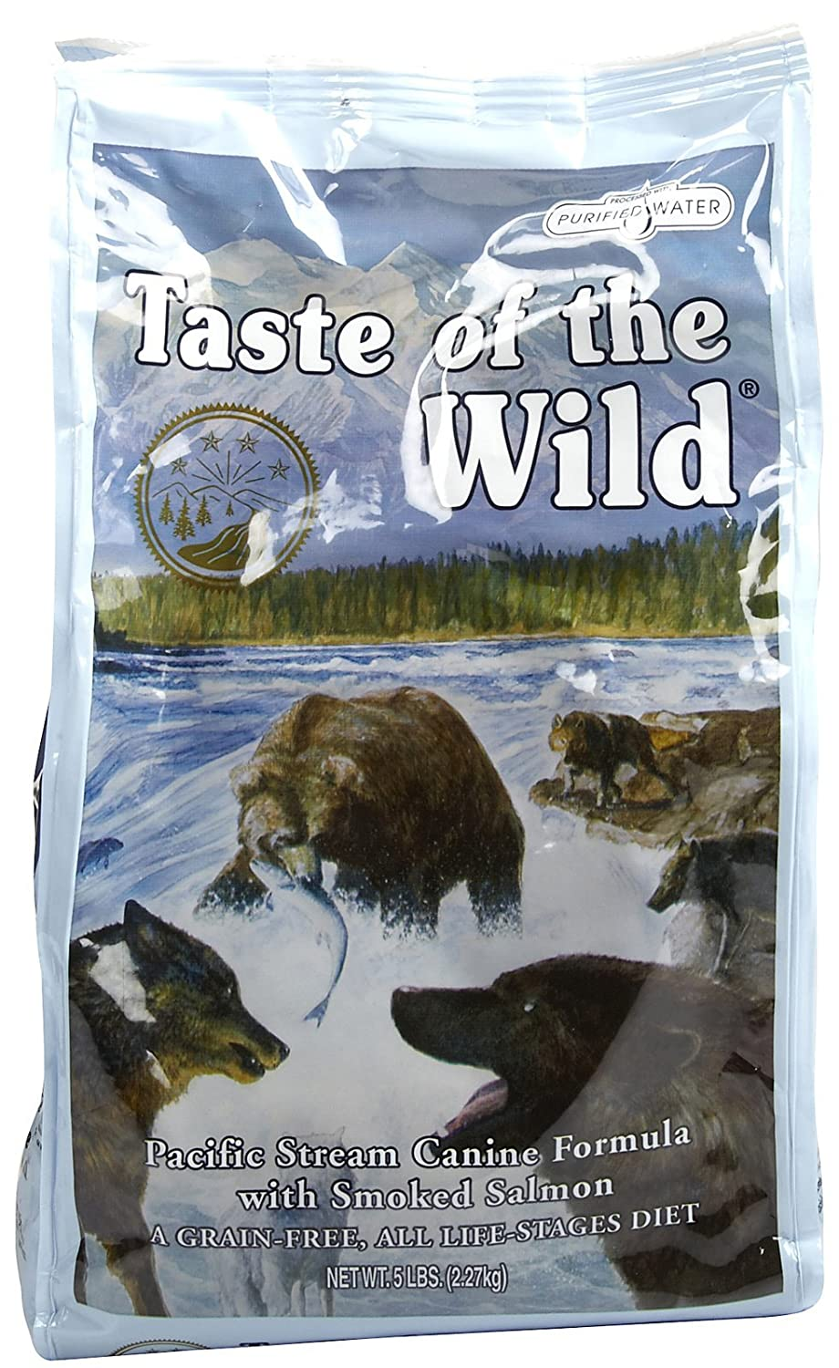 Taste of the Wild Pacific Stream Canine - Smoked Salmon - 5 lb