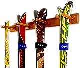 Timber Ski Wall Rack - 4 Pairs of Skis Storage