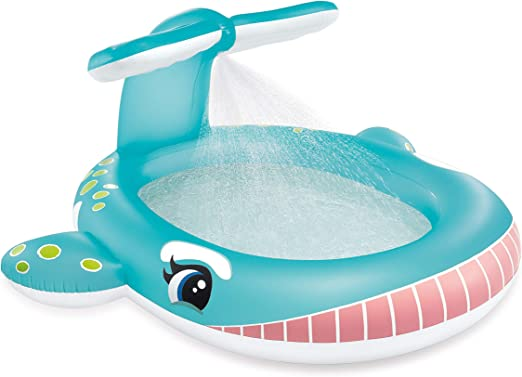Intex 57440NP - Piscina Hinchable Ballena con aspersor: Amazon.es: Jardín