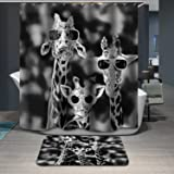 Home Fashion Anti-bacterial Rust Proof Shower Curtains, Width X Height / 72 X 80 Inches / W H 180 By 200 Cm, Polyerster