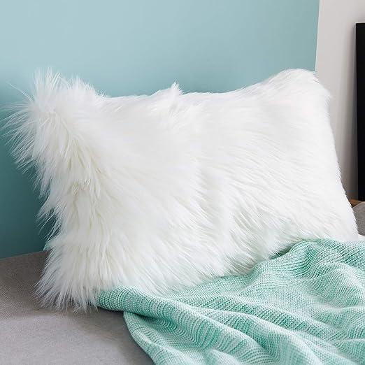 1 X Fluffy Faux Fur Shaggy Soft Sofa Chair Bed Home Pillow Case Cushion Cover