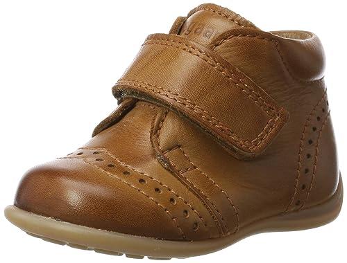Bisgaard Lauflernschuhe, Sneaker Unisex �C Bimbi 0-24, Braun (66 Cognac), 18 EU