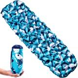 OutSmart Ultralight Sleeping Pad, Easily Inflatable and Ultra-Compact Ideal for Backpacking, Camping, Hiking with Comfortable Air-Support Cells and Customized Design Pattern