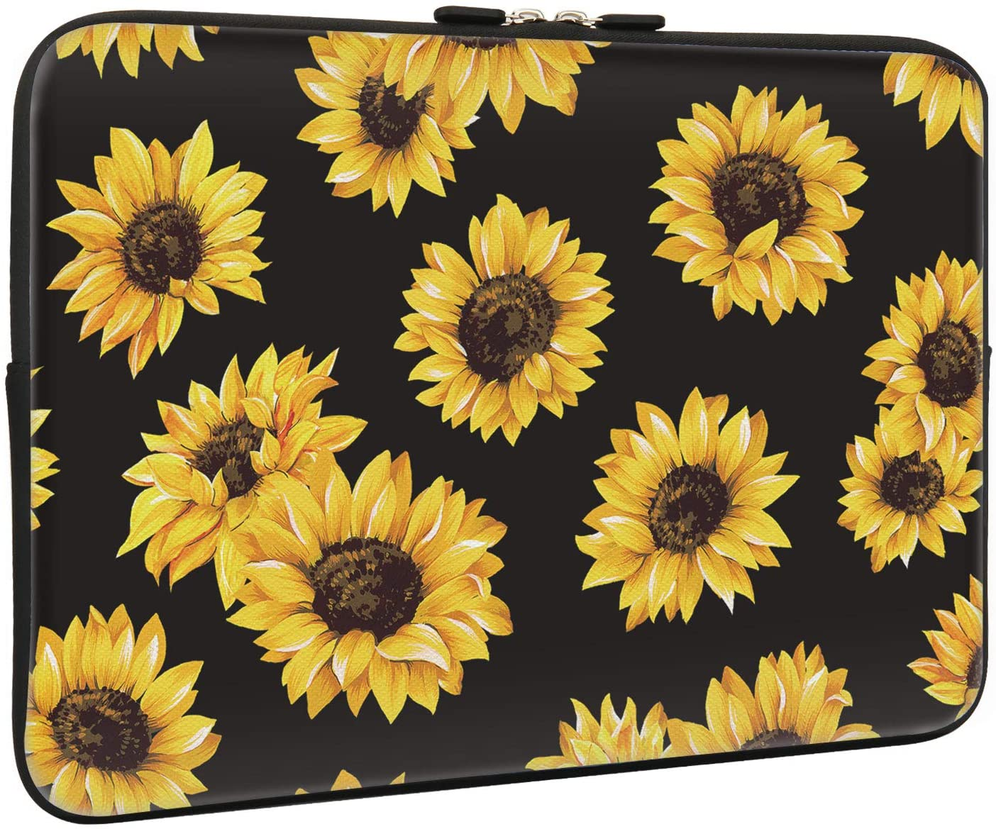 Lapac Sunflower Laptop Sleeve Bag 15-15.6 Inch, Water Repellent Neoprene Light Weight Computer Skin Bag, Notebook Carrying Case Cover Bags for 15/15.4/16 Inch MacBook Pro, MacBook Air, Computer Bag