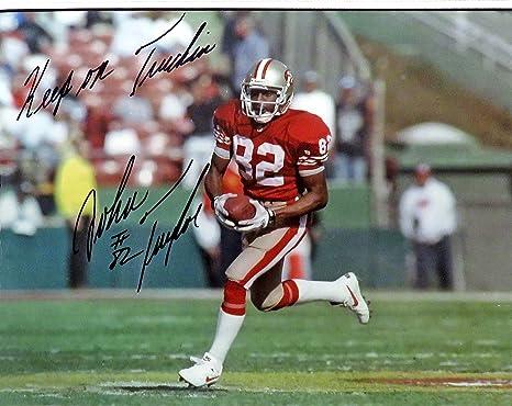"bdc5c523126 SF 49ers John Taylor Autographed ""Keep on Truckin"" 8x10 Photograph  (unframed)"
