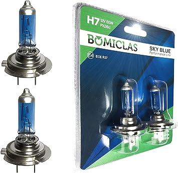 Bomiclas H7 Xenon Optik Lampe Sky Blue Performance Line 12v 55w Halogen Scheinwerferlampe 2x Super White Birne Auto