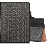 WWW Microsoft Surface Go Case,[Luxury Laser Flower] Premium PU Leather Case Protective Cover with Multiple Viewing Angles for