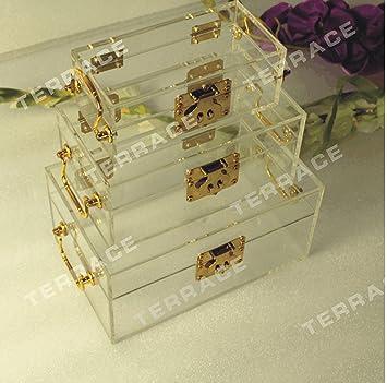 Amazoncom 3pcslot Clear Acrylic Jewelry Box Lucite storage