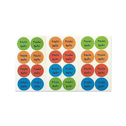 1 3 Cmpaleta Para Adhesivas ZapatosPegatinas 28 Etiquetas Redondas De 5RjL34A