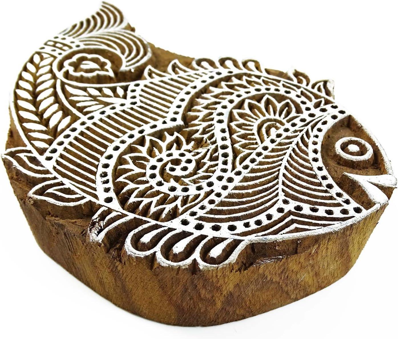 Fisch Stempel Holz Stempel Indischen Handdruck Block Textil-Stempel Sehnte