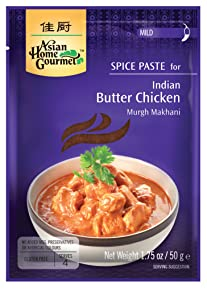 Asian Home Gourmet Spice Paste for Indian Butter Chicken - Murgh Makhani. 1.75oz (Pack of 3)