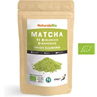 Matcha Tee Pulver Bio [ Cooking-Qualität ] 100 GR. Original Green Tea aus Japan. Japanischer Matcha Ideal zum Smoothies – Shakes - Latte. Tee hergestellt in Japan Uji, Kyoto. NATURALEBIO®