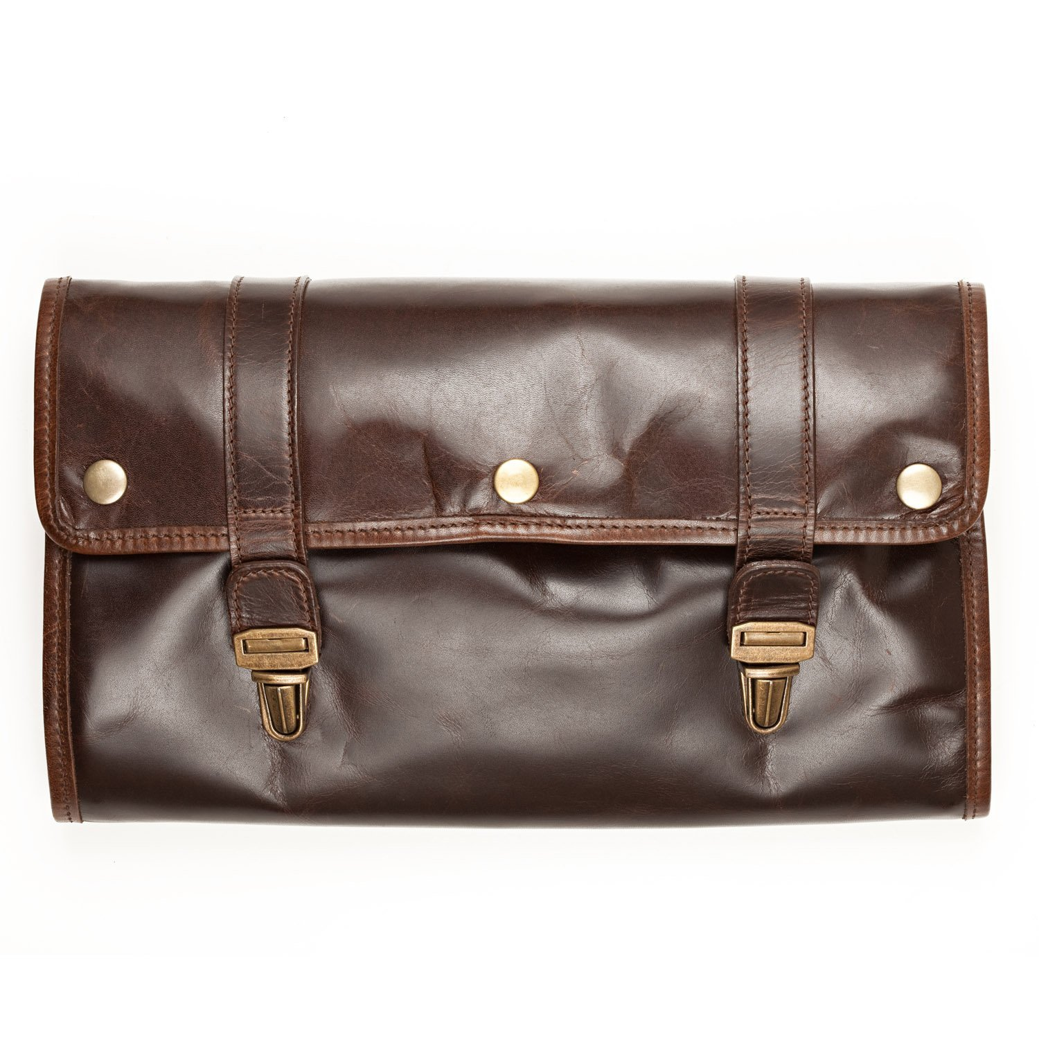 Brown Moore and Giles plastic Moores and Giles Austin Hanging Toiletries Kit