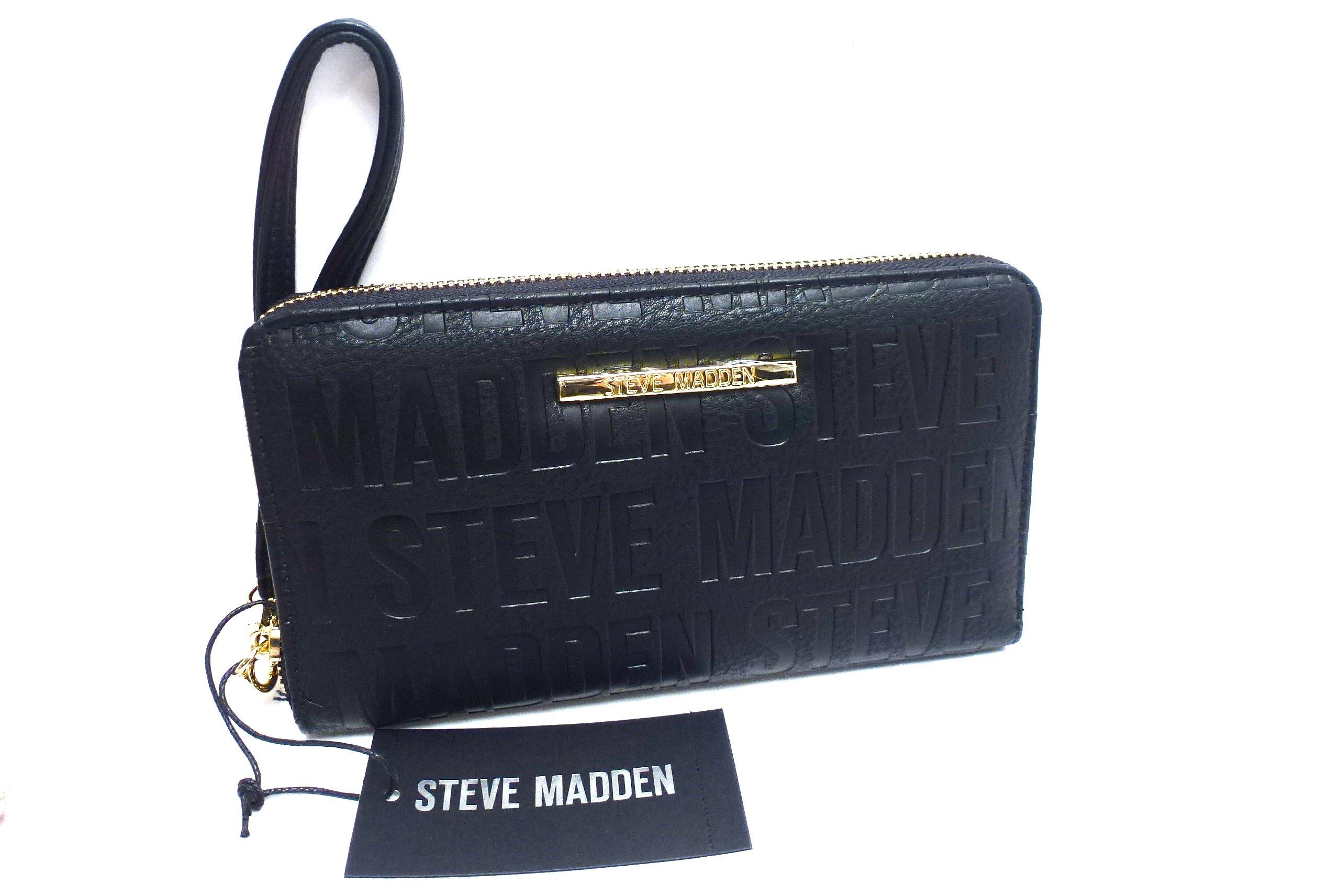 Steve Madden Wristlet/Wallet/Cell Phone Holder Black