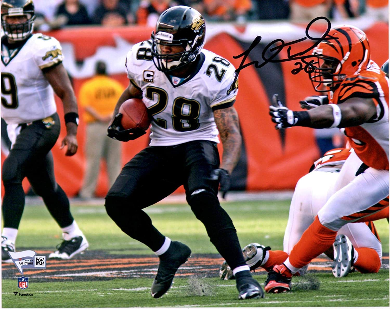 Fanatics Authentic Certified Fred Taylor Jacksonville Jaguars Autographed 8 x 10 White Cutting Photograph