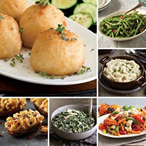 Giant Sides Assortment from Omaha Steaks (Potatoes au Gratin, Roasted Garlic Mashed Potatoes, Green Beans, Stuffed Baked Potatoes, Creamed Spinach, Roasted Vegetable Medley, and more)