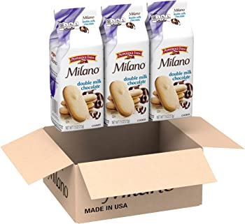 3-Pack Pepperidge Farm Milano Cookies Double Milk Chocolate, 7.5oz