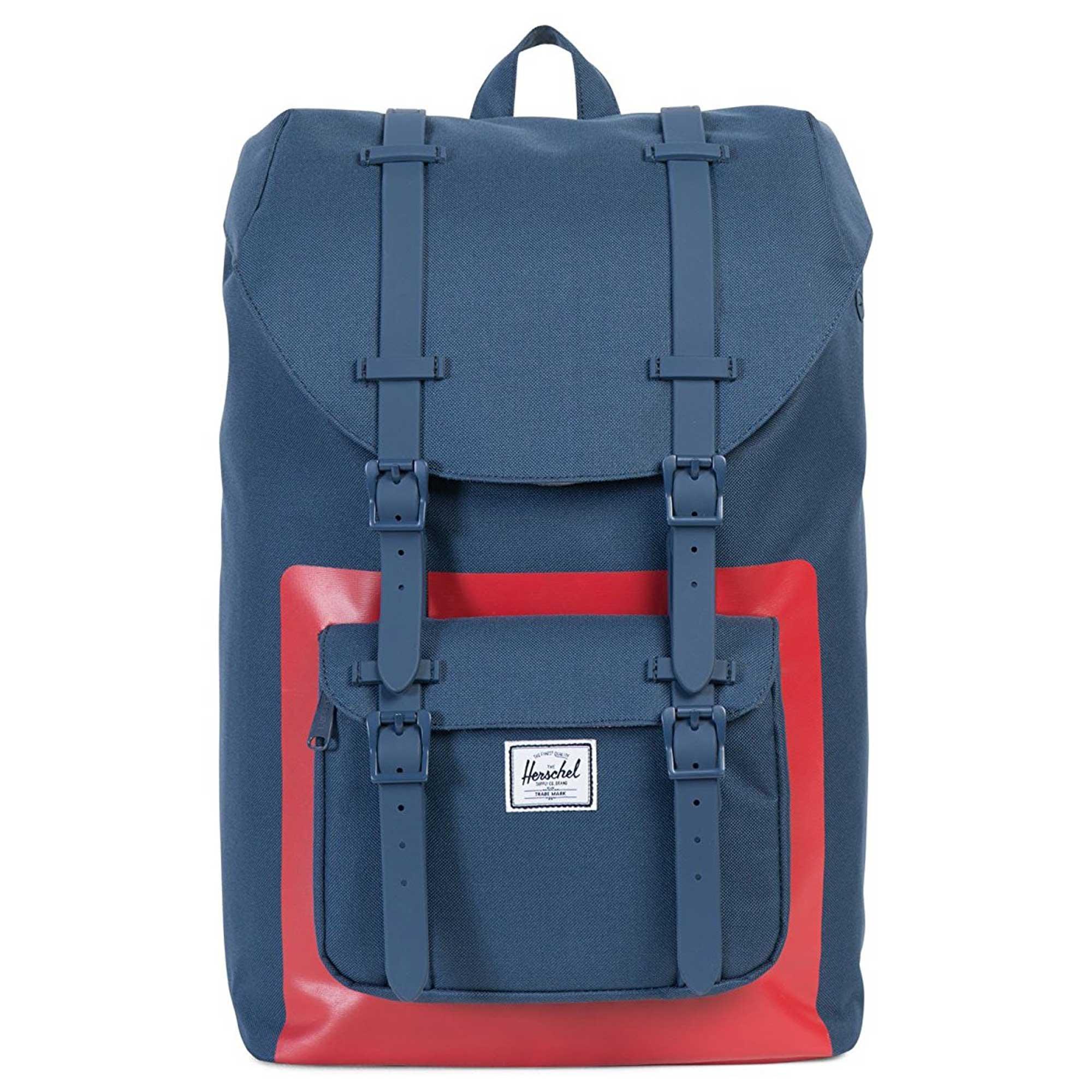 Herschel Supply Co. Women's Little America Backpack, Navy/Red Block, One Size