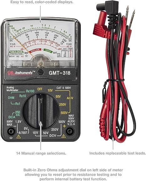 AC // DC Volt Gardner Bender GMT-318 Analog Multimeter 14 Range 6 Function