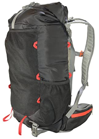 Amazon.com : ULTRALIGHT 40L Hiking Black Backpack with Roll Top ...