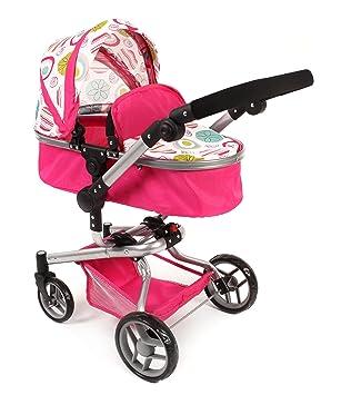 Amazon.es: Bayer Chic 2000 nbsp;593 07 - Carrito para muñecas YOLO, color blanco/rosa: Juguetes y juegos