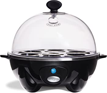 Dash Go Rapid Egg Electric Cooker With Auto Shut Off Feature (Black)
