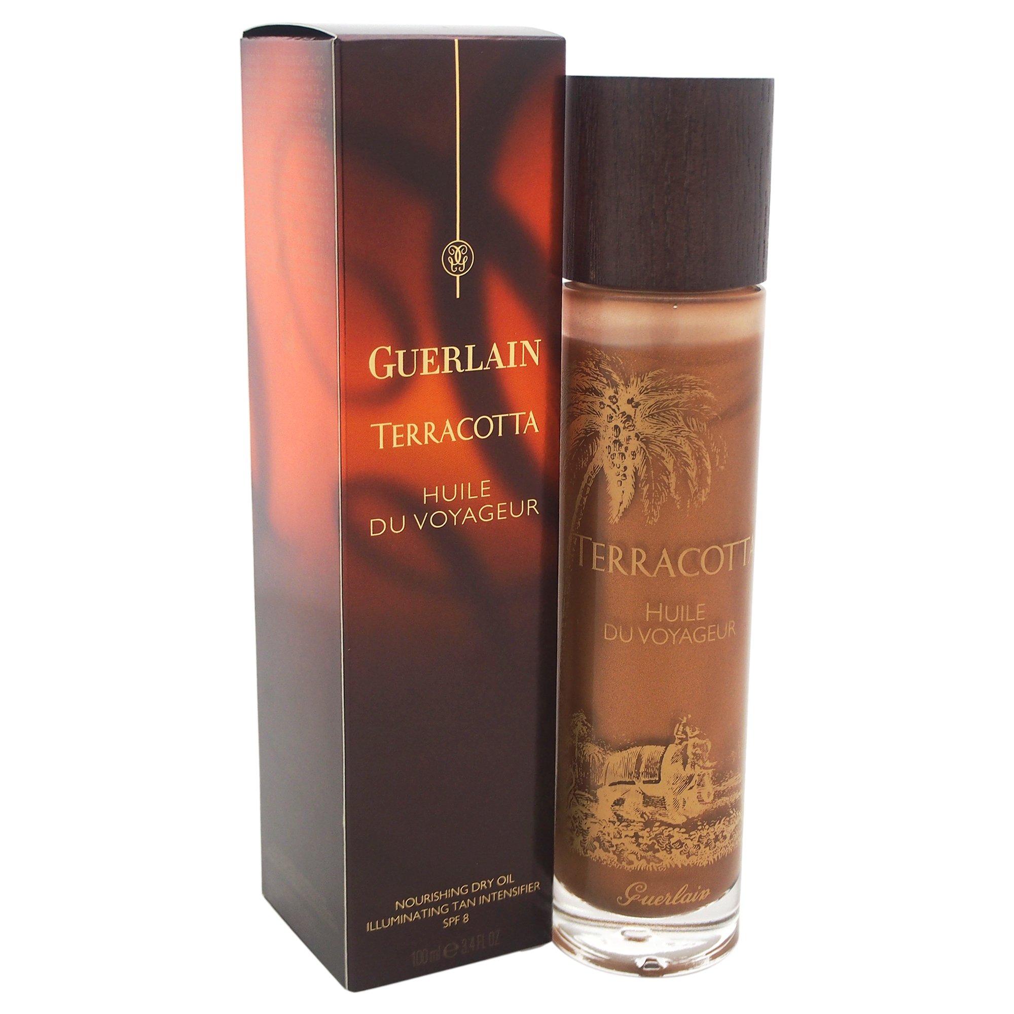 Guerlain Terracotta Huile De Voyageur Nourishing Dry Oil Illuminating Tan Intense SPF for Women, 3.4 ounce