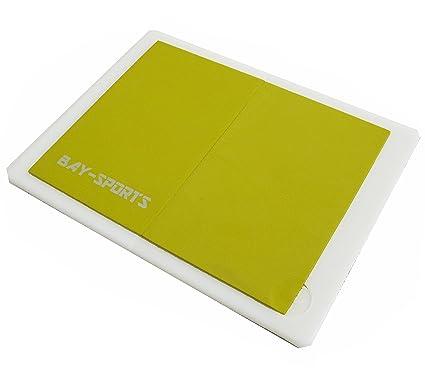 Bay® Prueba de rotura Tablas reutilizable – Fácil (Amarillo) – Plástico higiénicas Deportes