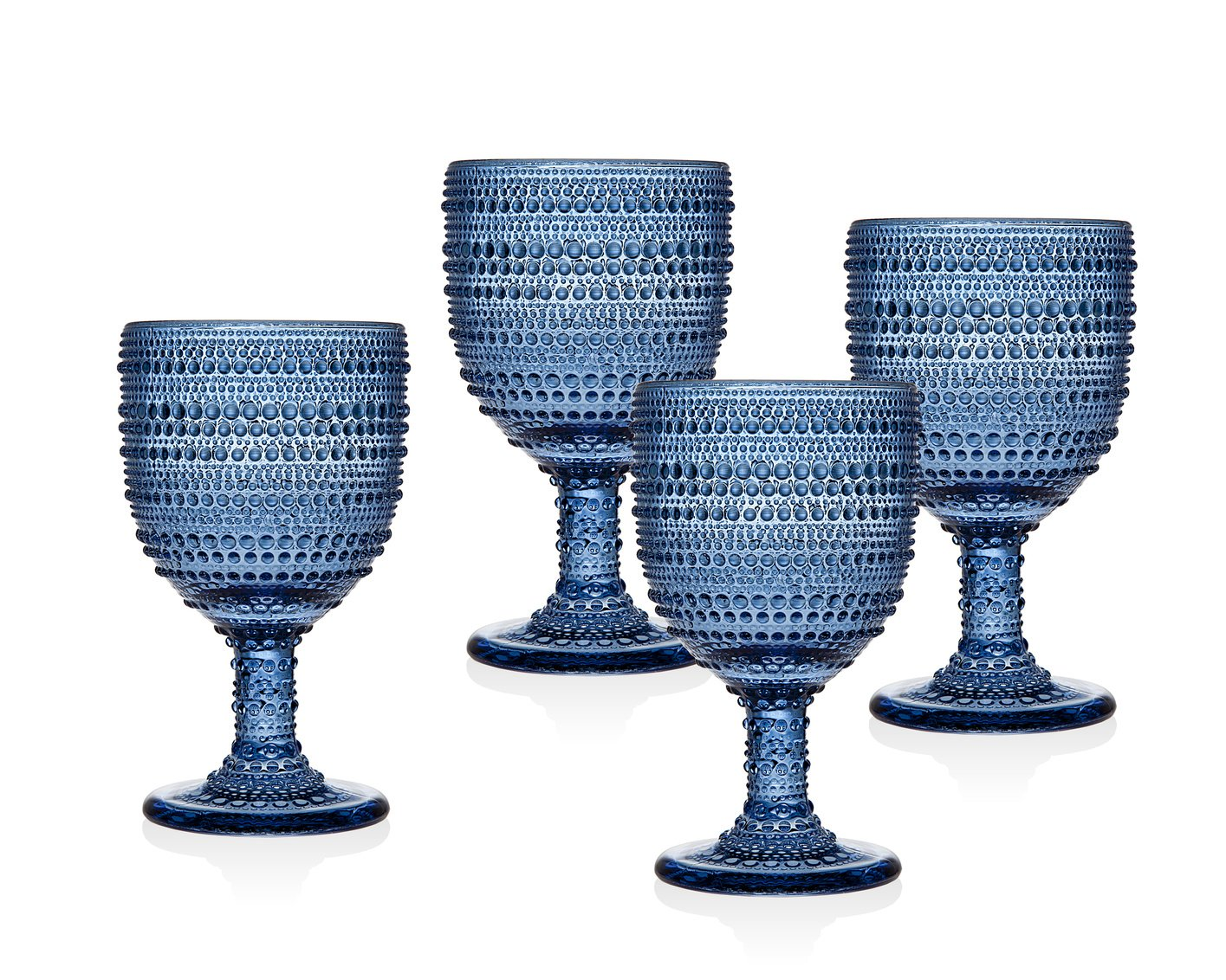 Godinger Silver Art Lumina Blue Set 4 Goblet