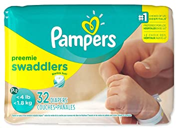Amazon.com : Pampers Swaddlers Preemie 8 of 32 - 256 Diapers : Baby