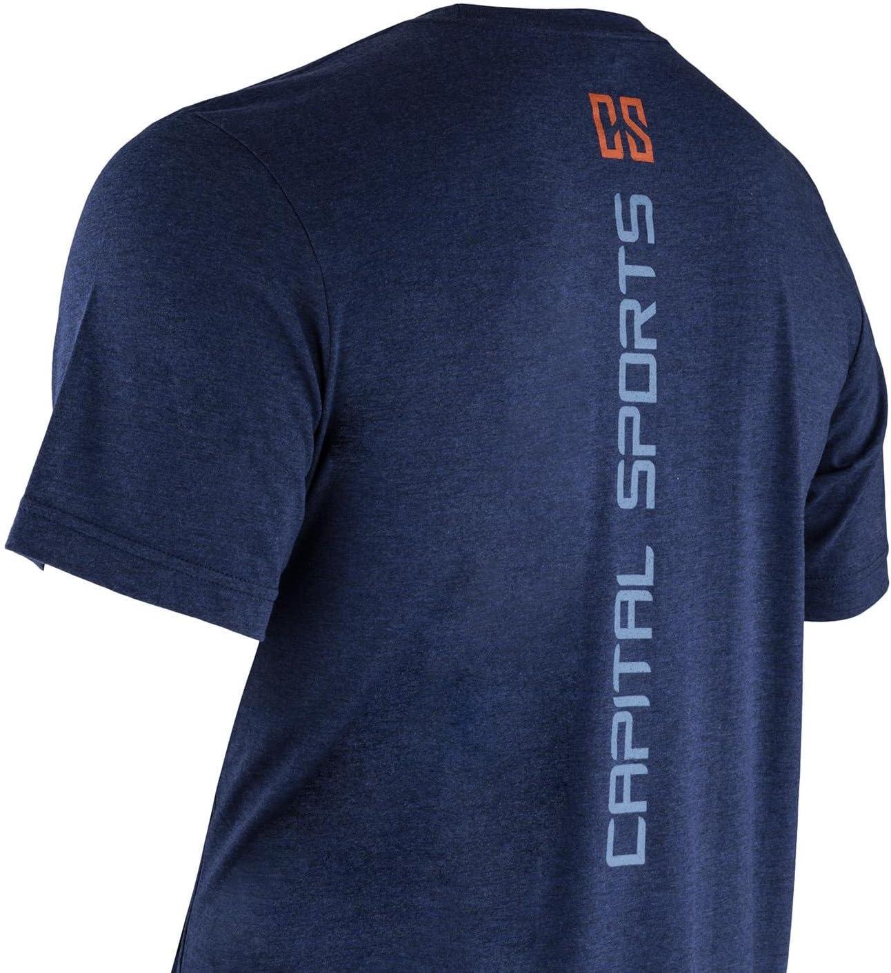 Logo Just Another Day at The Bar, Logo Stampato sul Retro, Tessuto Robusto Capital Sports T-Shirt Maglietta Fitness Palestra Allenamento da Uomo