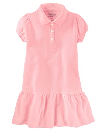 c9cb7c2e1 Amazon.com: Osh Kosh Girls' Kids Polo Dress, Pink, 8: Clothing