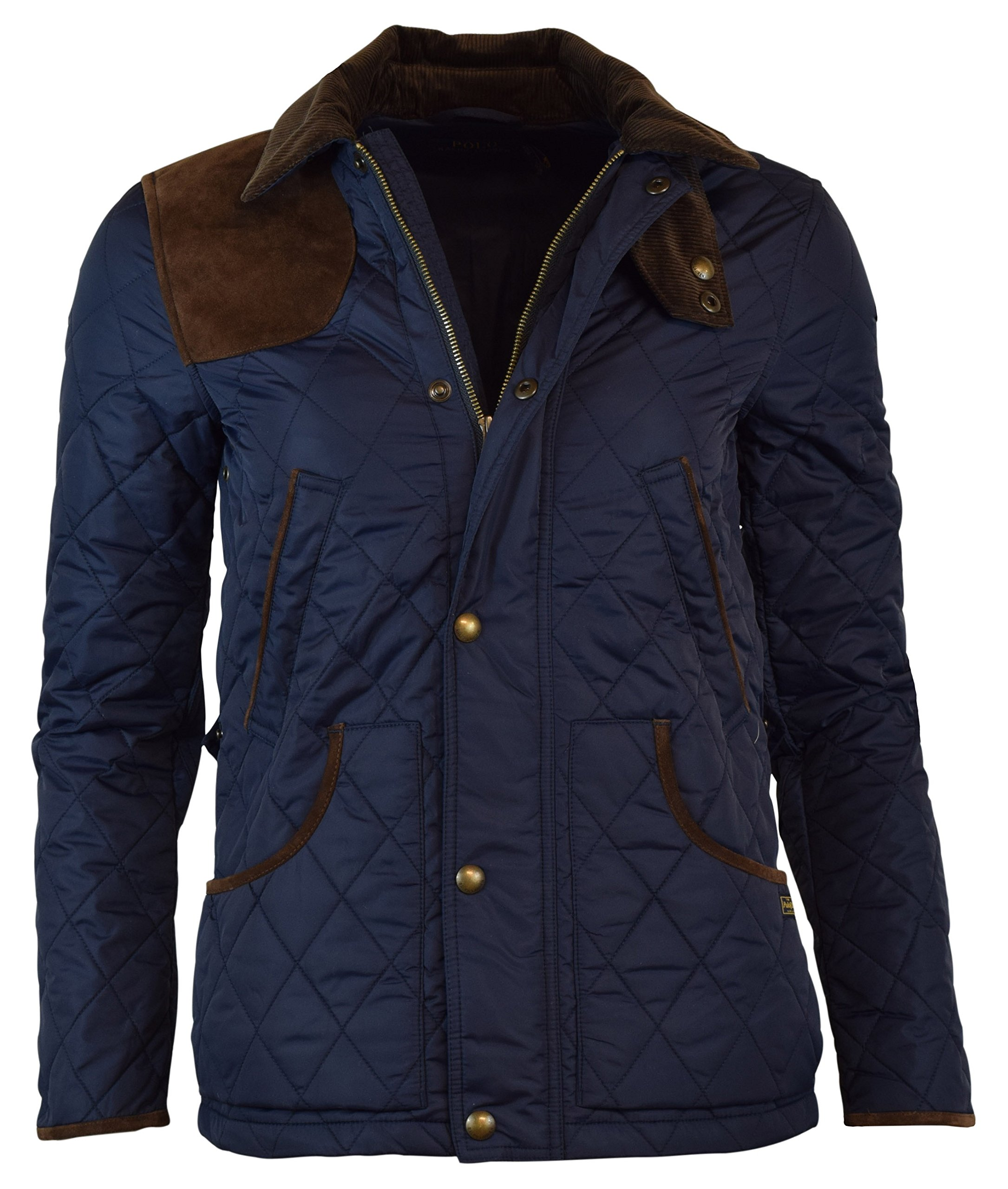 Ralph Lauren Ladies Suede Trim Quilted Jacket Barn Hagan Coat M