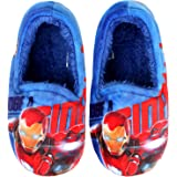 Joah Store Slippers Marvel Avengers Iron Man Flash Beam Boys Warm Indoor Blue Shoes