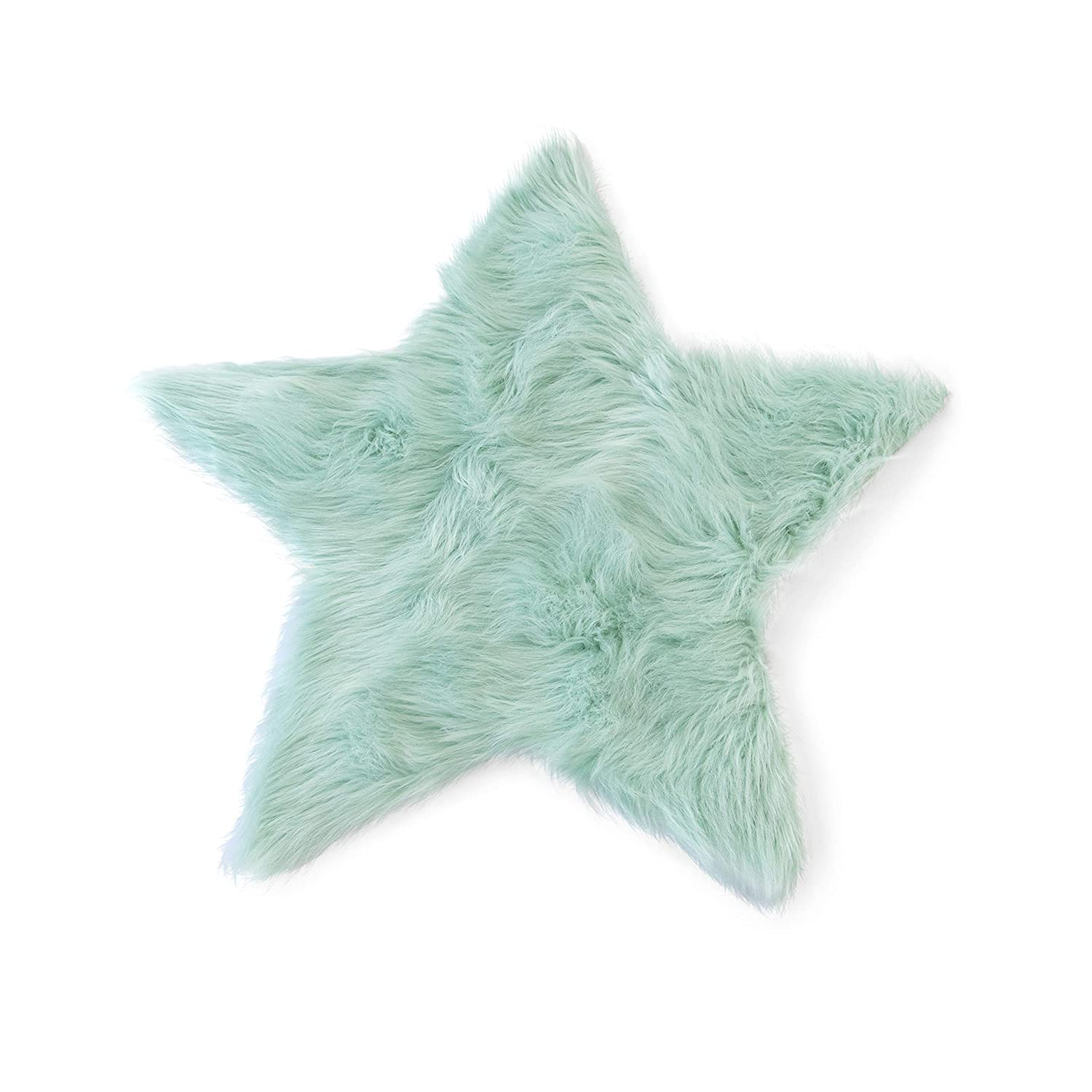 Machine Washable Faux Sheepskin Mint Star Rug 2' x 2' - Soft and silky - Perfect for baby's room, nursery, playroom (Star Small Mint) KROMA CARPETS