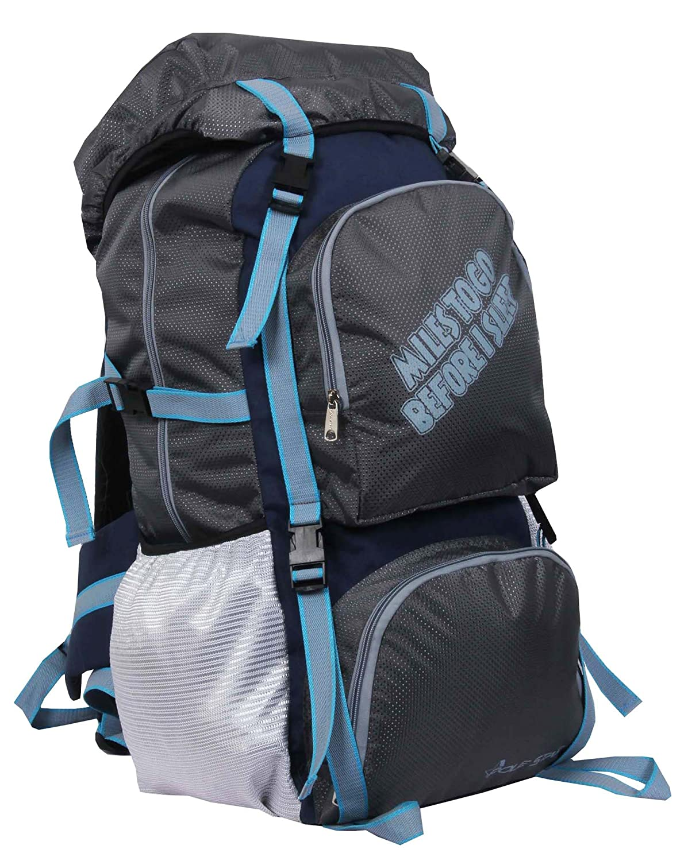 Best Of Rucksacks & Hiking Trekking Bags in India POLESTAR, Rocky Polyester 60 Lt Grey Rucksack/Travel/Hiking/Weekend Backpack Bag