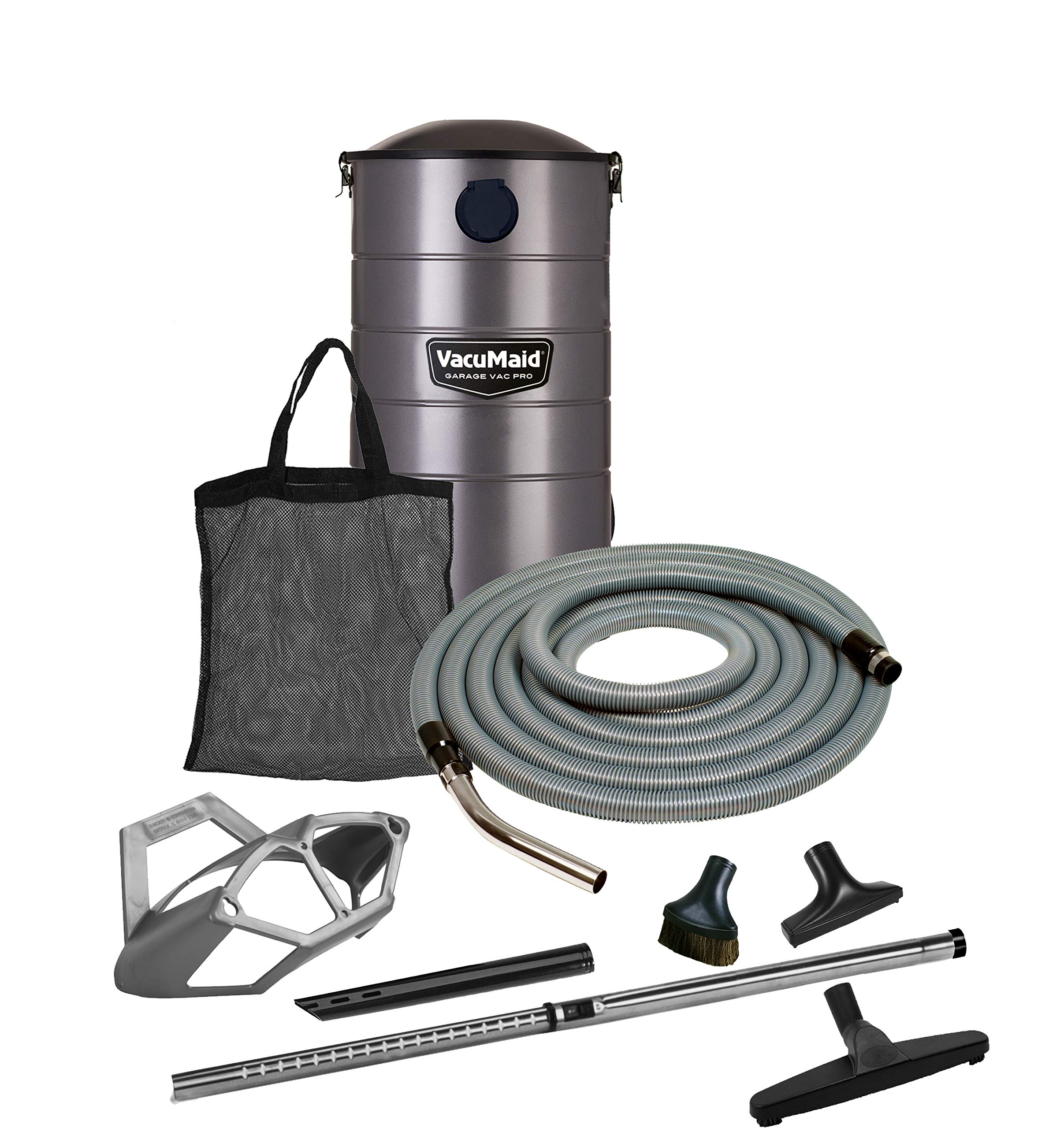 VacuMaid GV50PRO Wall Mounted Garage and Car Vacuum with 50 ft. Hose and Tools.