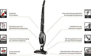 AEG AG 932 Ergorapido Cyclonic 2-in-1 - Aspirador escoba con tecnología Brush Roll Clean, color negro metalizado: Amazon.es: Hogar