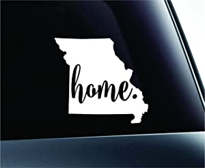 #3 Home Missouri State Jefferson City Symbol Sticker Decal Car Truck Window Computer Laptop (White)