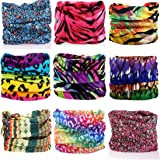KALILY 12PCS/9PCS/6PCS Headband Bandana - Versatile Sports & Casual Headwear –Multifunctional Seamless Neck Gaiter, Headwrap, Balaclava, Helmet Liner, Face Mask for Camping, Running, Cycling, Fishing etc