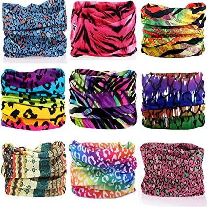 KALILY 9PCS Headband Bandana - Versatile 12-in-1 Sports   Casual Headwear – 363cdc2171b7