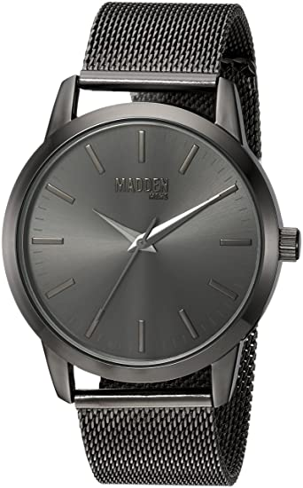Amazon.com: Steve Madden Mens Japanese-Quartz Watch with Stainless-Steel Strap, Black, 20 (Model: SMMW002-BK: Watches