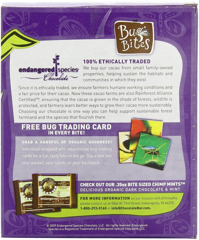 Amazon.com : Endangered Species Bug Bites, Organic Dark Chocolate ...