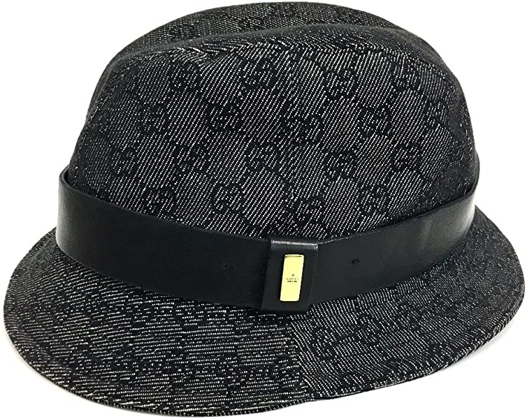053e94b00b3d Amazon | (グッチ)GUCCI デニム GG ハット帽 帽子 GGキャンバス ...
