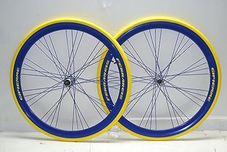 Ruedas bicicleta carretera ruedas para bicicleta de carretera 700 x 23 Raktor Gipiemme 8 V Azul