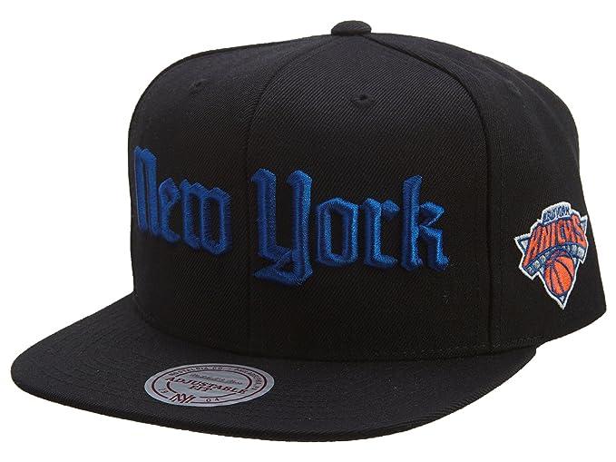 292f9b22560a9 Mitchell   Ness NBA New York Knicks Gothic City Snapback Cap at ...