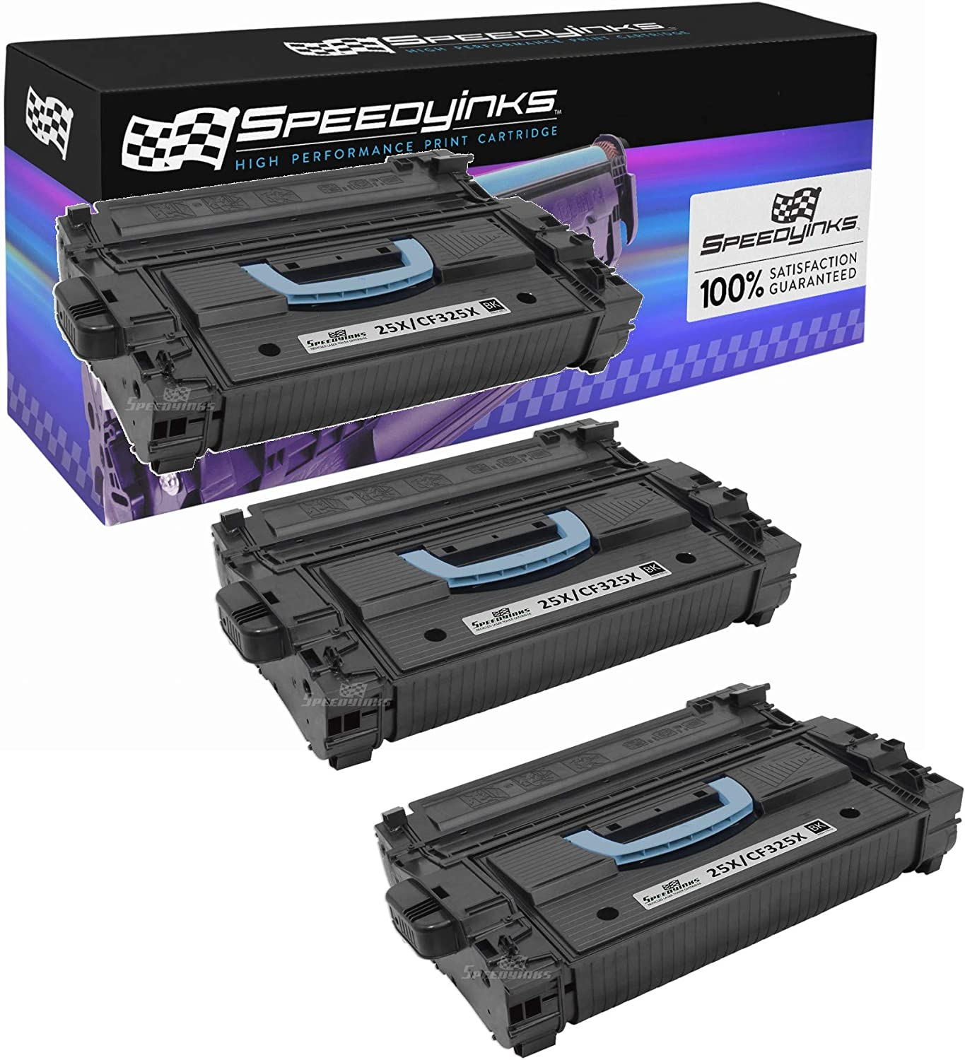 Speedy Inks Remanufactured Toner Cartridge Replacement for HP 25X / CF325X (Black, 3-Pack)