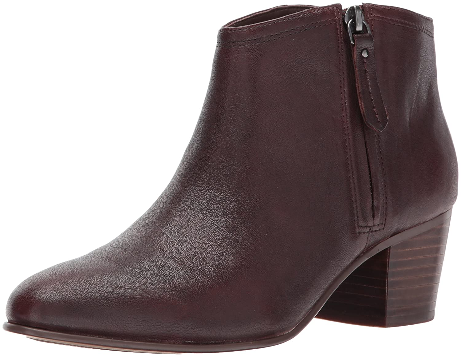 CLARKS Women's Maypearl Alice Ankle Bootie B01NGYHSID 7 B(M) US|Mahogany Nubuck